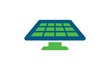 solar panel green and blue icon