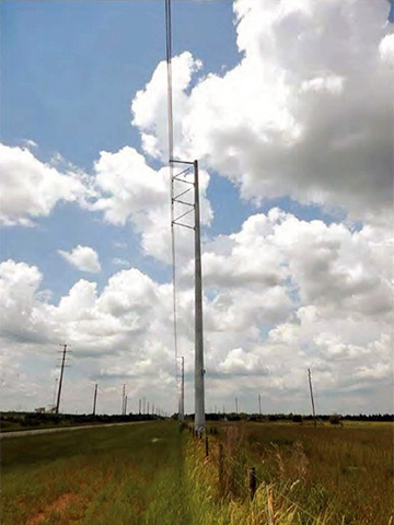 Transmission Tower showing typical configuration