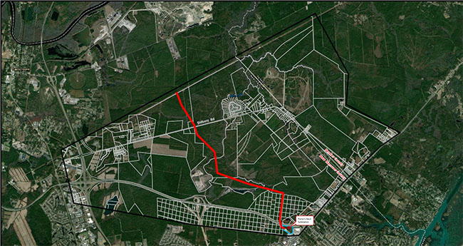 Thumbnail image of Wilmington NE transmission project route map