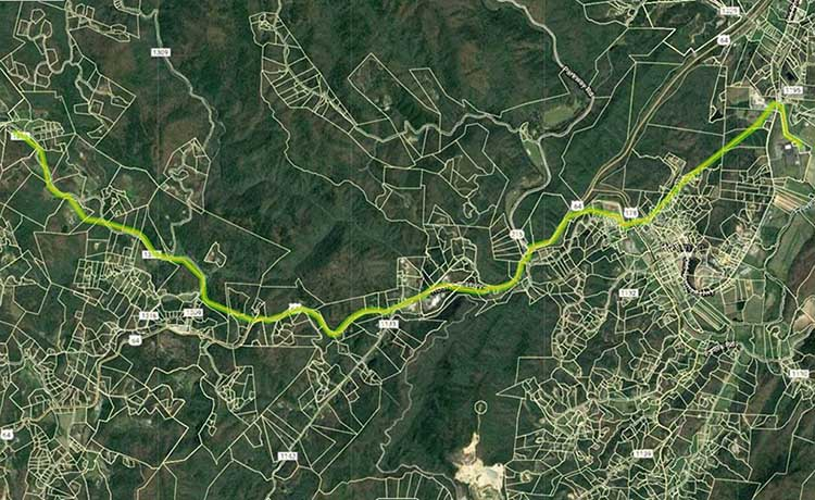 Thumbnail image of Quebec Improvement Project route.