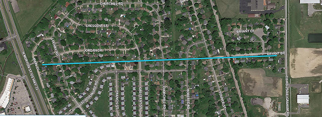 Thumbnail image of Schoolhouse Road project route