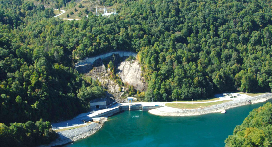 A pumped storage hydroelectric facility.