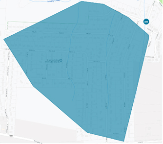 in copy outage map blue shade