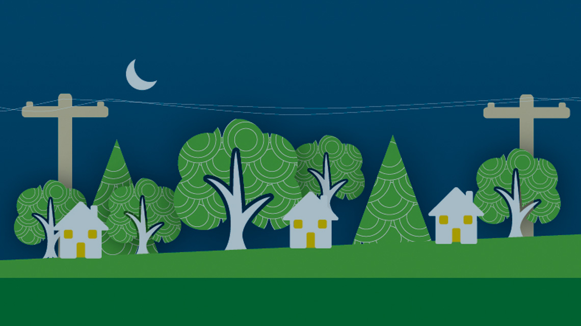 Graphic of trees near power lines