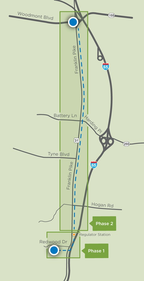 franklin pike project map