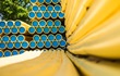 Stacks of yellow gas line pipes