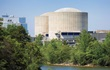Small image of Catawba Nuclear Station exterior with lake in foreground