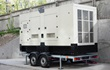 Large commercial generator on trailer