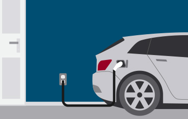 EV connected to level one charger