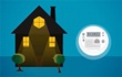 Drawing of house at night and a smart meter