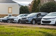 Five electric vehicles