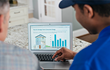 Home energy advisor consulting with homeowner