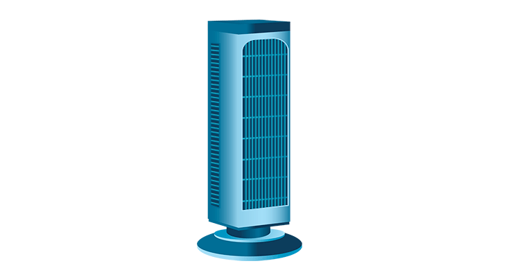Blue Tower Fan graphic